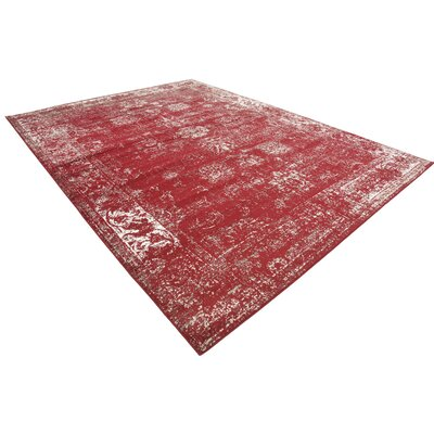Brandt Burgundy Area Rug Rug Size: Rectangle 9 x 12