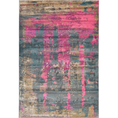 Coakley Pink Area Rug Rug Size: 6 x 9