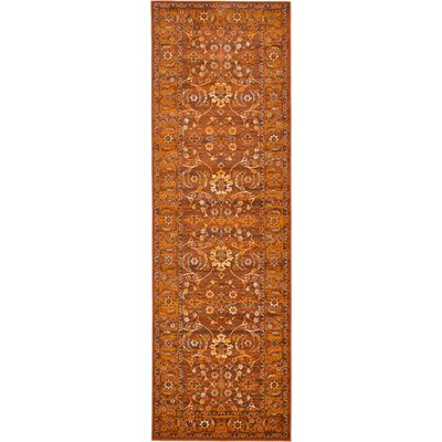 Bolton Orange/Brown Area Rug Rug Size: Runner 3 x 91