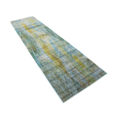 Killington Turquoise Area Rug Rug Size: Runner 27 x 10