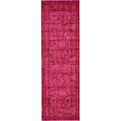 Iris Red Area Rug Rug Size: Runner 2 x 7