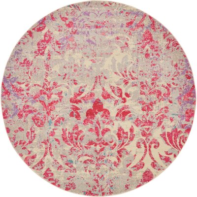 Fujii Beige/Pink Area Rug Rug Size: Rectangle 106 x 165