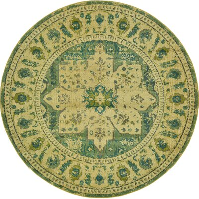 Killington Green Area Rug Rug Size: Round 8