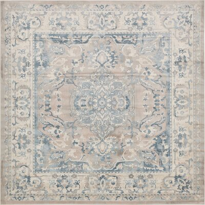 Mellal Gray Area Rug Rug Size: Square 8