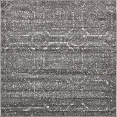 Essex Dark Gray Area Rug Rug Size: Square 8