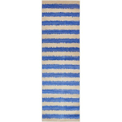 Travis Blue/Beige Area Rug Rug Size: Runner 3 x 10