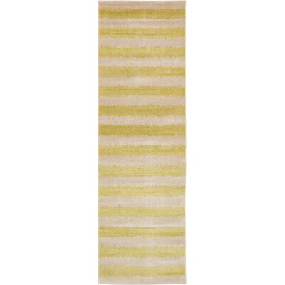 Travis Traditional Green/Beige Area Rug Rug Size: Runner 3 x 10