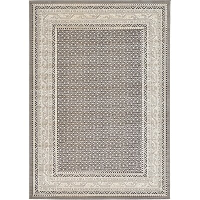 Gillam Gray Area Rug Rug Size: Rectangle 7 x 10