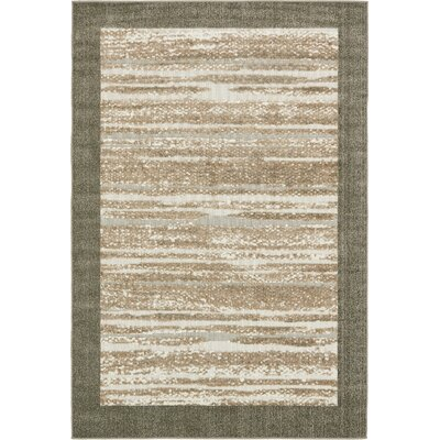 Loretta Brown Indoor/Outdoor Area Rug Rug Size: 6 x 9