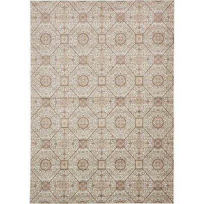 Mathieu Cream/Brown Area Rug Rug Size: Rectangle 7 x 10