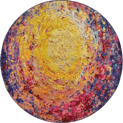 Ned Area Rug Rug Size: Round 6