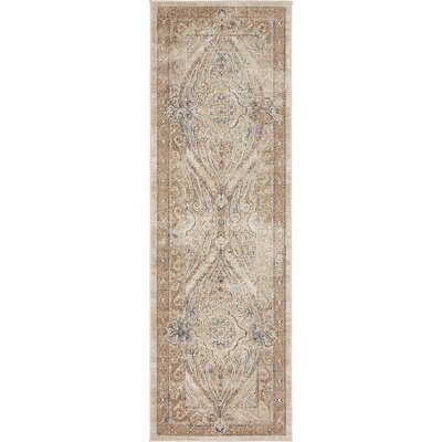 Abbeville Brown/Beige Area Rug Rug Size: Runner 22 x 67