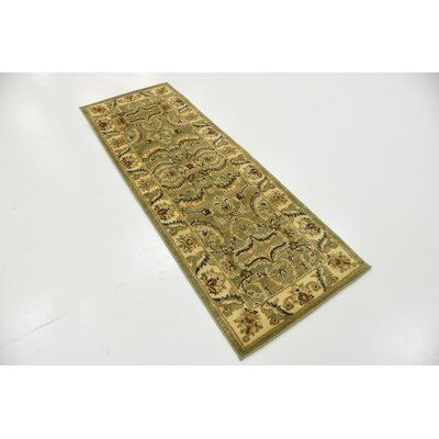 Fairmount Green Area Rug Rug Size: Rectangle 9 x 12
