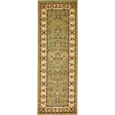Fairmount Light Green Area Rug Rug Size: Runner 22 x 6