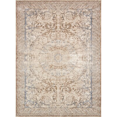 Abbeville Beige Area Rug Rug Size: 9 x 12