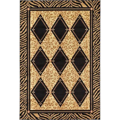 Jaina Light Brown Geometric Area Rug Rug Size: Rectangle 6 x 9
