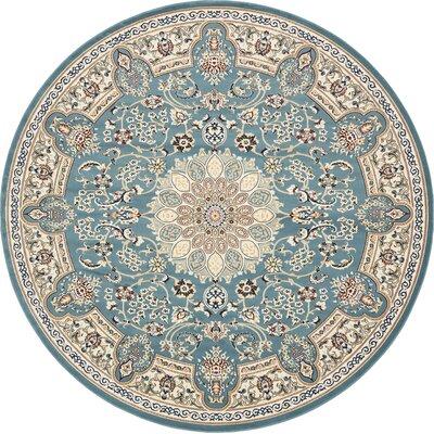 Jackson Blue Area Rug Rug Size: Round 10