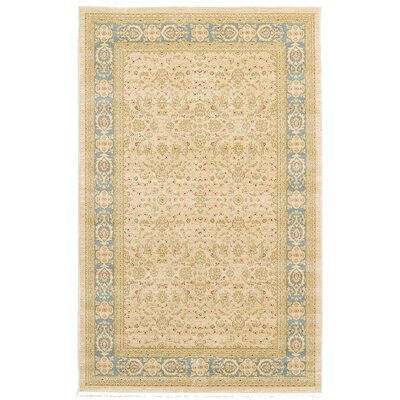 Jamar Traditional Cream Area Rug Rug Size: 5 x 8