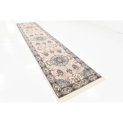Courtright Cream/Tan Area Rug Rug Size: 5 x 8