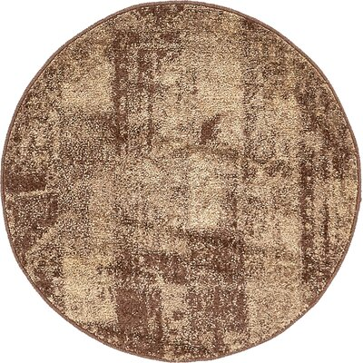 Weese Brown Area Rug Rug Size: Round 33