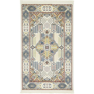 Jackson Ivory Area Rug Rug Size: Rectangle 3 x 5