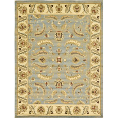 Fairmount Yellow/Blue Area Rug Rug Size: Round 6