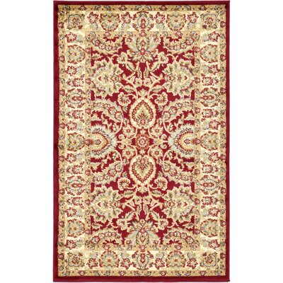 Fairmount Red Area Rug Rug Size: 33 x 53