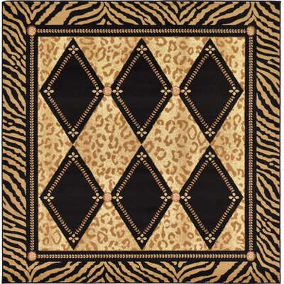 Jaina Light Brown Geometric Area Rug Rug Size: Rectangle 6 x 6