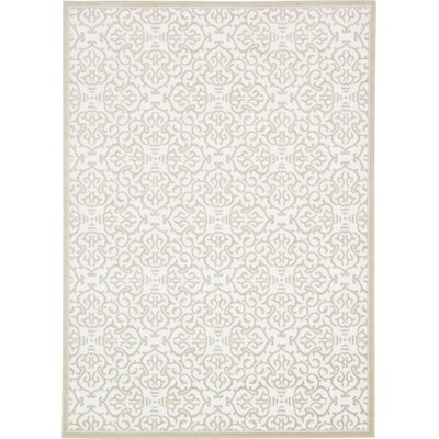 Mathieu Snow White/Beige Area Rug Rug Size: Rectangle 8 x 116