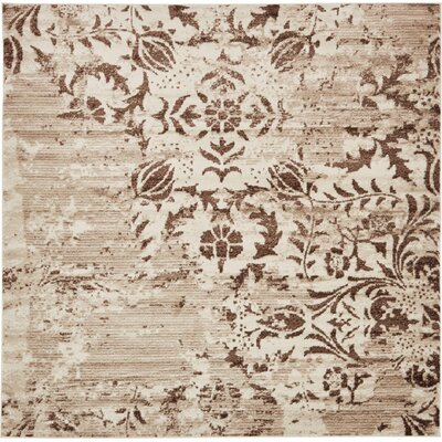 Matis Chocolate Brown/Beige Area Rug Rug Size: Square 8