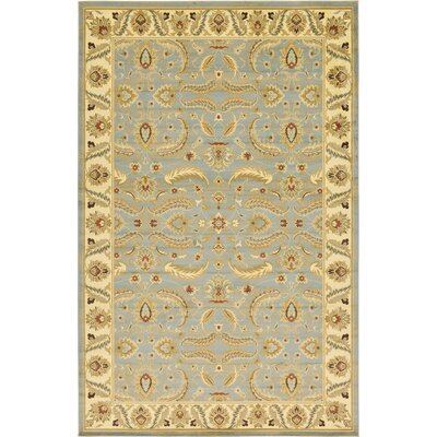 Fairmount Yellow/Blue Area Rug Rug Size: 106 x 165