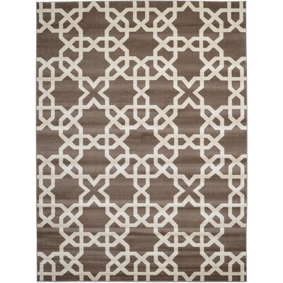 Moore Light Brown Area Rug Rug Size: Rectangle 9 x 12