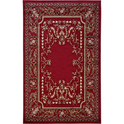 Littoral Red Area Rug Rug Size: 5 x 8