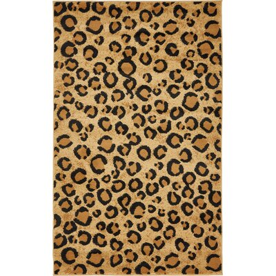 Leif Light Brown Area Rug Rug Size: Square 6