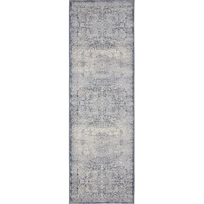 Abbeville Stone Blue Area Rug Rug Size: Runner 22 x 67