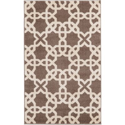 Molly Light Brown Area Rug Rug Size: Rectangle 33 x 53