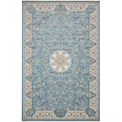 Jackson Blue Area Rug Rug Size: Rectangle 3 x 5