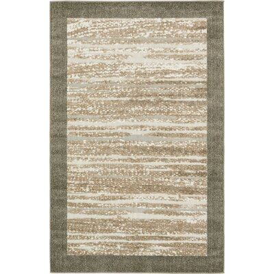 Loretta Brown Indoor/Outdoor Area Rug Rug Size: Rectangle 5 x 8