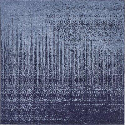 Dungan Blue Area Rug Rug Size: Square 6