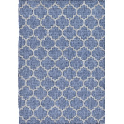 Harding Blue Outdoor Area Rug Rug Size: 8 x 114