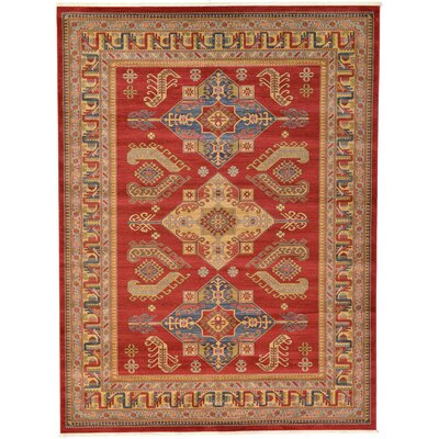 Valley Red Area Rug Rug Size: Rectangle 10 x 13