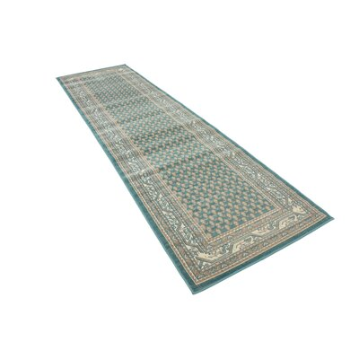 Gillam Teal Area Rug Rug Size: Runner 29 x 91