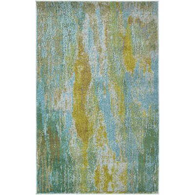 Killington Turquoise Area Rug Rug Size: 3'3