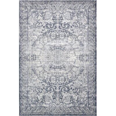 Abbeville Stone Blue Area Rug Rug Size: Rectangle 9 x 12