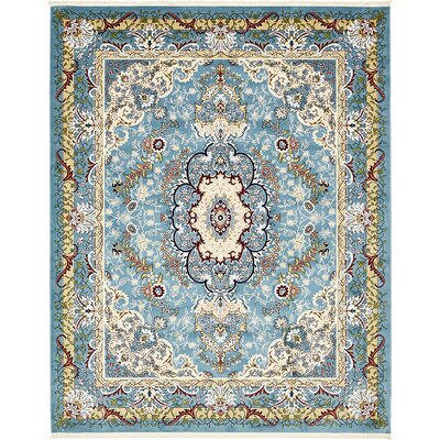 Courtright Blue/Tan Area Rug Rug Size: 8 x 10
