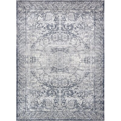 Abbeville Stone Blue Area Rug Rug Size: 9 x 12