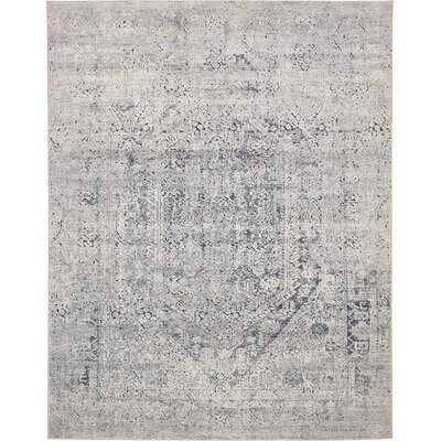 Abbeville Gray/Dark Blue Area Rug Rug Size: 8 x 10