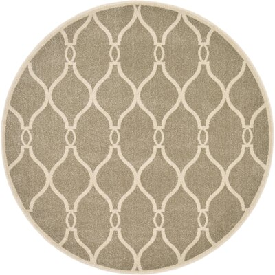 Molly Beige Area Rug Rug Size: Round 6