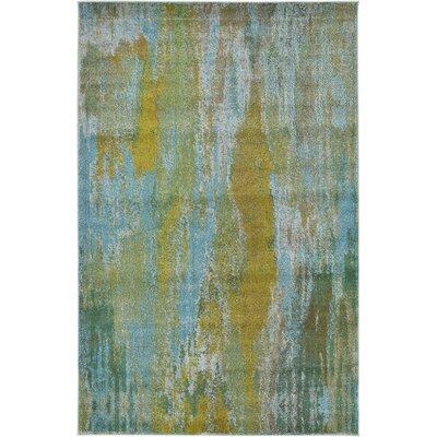 Killington Turquoise Area Rug Rug Size: 5 x 8