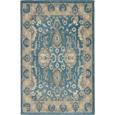 Jaiden Blue / Brown Area Rug Rug Size: 2 x 3